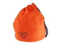 Pomarańczowa czapka z bykiem na zimę
