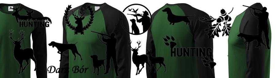 Koszulki z długim rękawem dla myśliwych dwukolorowe - wszystkie wzory