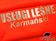Kamizelka z nadrukiem odblaskowym Karmański
