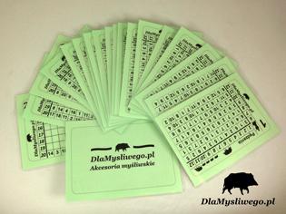 Karnety dla myśliwych - zielone