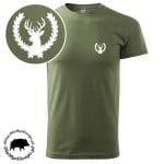 t-shirt-khaki-myśliwski-byk-w-wieńcu-biała-1