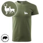 t-shirt-khaki-myśliwski-byk-z-łanią-biała-1