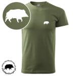 t-shirt-khaki-myśliwski-dzik-biały-1