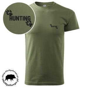 Koszulka tshirt krótki rękaw myśliwski trop hunting