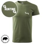 t-shirt-khaki-myśliwski-hunting-z-tropem-biała-1