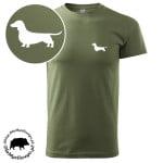t-shirt-khaki-myśliwski-jamnik-biały-1
