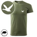 t-shirt-khaki-myśliwski-kaczka-biała-1