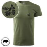 t-shirt-khaki-myśliwski-liście-dębu-1