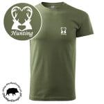 t-shirt-khaki-myśliwski-love-hunting-biały-1