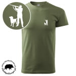 t-shirt-khaki-myśliwski-myśliwy-z-labradorem-biały-1