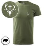 t-shirt-khaki-myśliwski-wieniec-biały-1