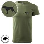 t-shirt-khaki-myśliwski-wyżeł-1