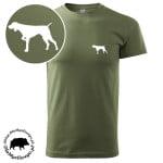 t-shirt-khaki-myśliwski-wyżeł-biały-1