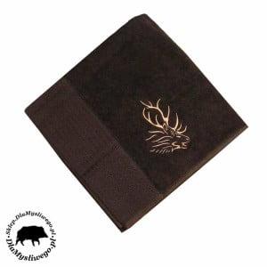 Myśliwski ręcznik bambusowy brązowy