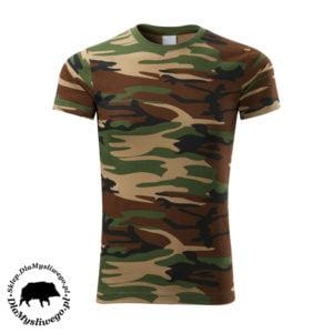 Koszulka wędkarska moro odcień zielono - brązowy