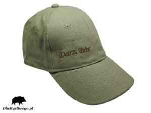 Myśliwska czapka khaki napis darz bór