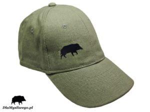 Myśliwska czapka khaki dzik