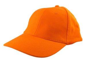 Czapka pomarańczowa gładka