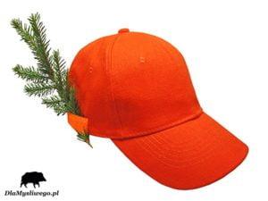 Myśliwska czapka pomarańczowa uchwyt
