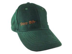 Czapka zielona haft z napisem darz bór