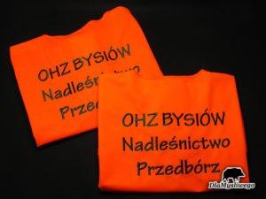 Kamizelka odblaskowa ohz bysiów nadleśnictwo Przedbórz