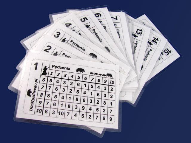 Kartki stanowiskowe do 15 myśliwych