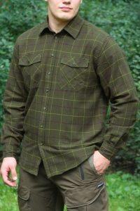 Koszula UNIVERS flanelowa zielona 9493