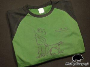 Koszulka flex dlamyśliwego duży myśliwy z psem