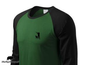 Koszulka long 2 kolory myśliwy z labradorem