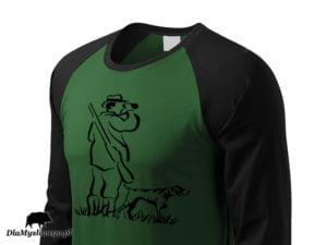 Koszulka long 2 kolory Myśliwy z psem