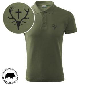 Koszulka myśliwska polo wieniec