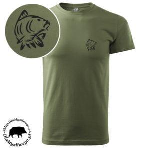 Koszulka wędkarska krótki rękaw mały techno karp