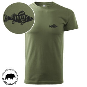 Koszulka wędkarska krótki rękaw ryba Okoń