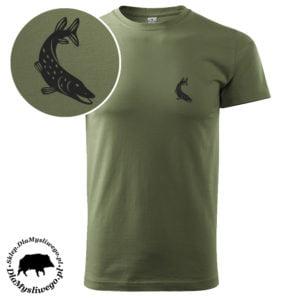 Koszulka wędkarska ryba szczupak