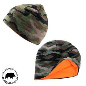 Myśliwska czapka dwustronna moro pomarańczowy