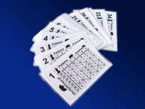 Myśliwskie kartki stanowiskowe 21 34 8