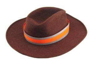 Opaska odblaskowa pomarańczowa szeroka na kapelusz
