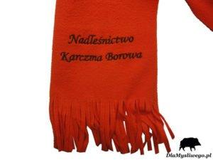 Szalik z haftem nadleśnictwo Karczma Borowa