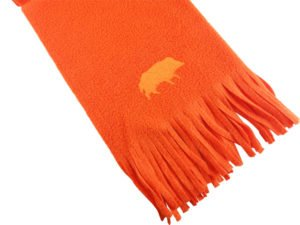 Szalik z haftem dzik pomarańczowy