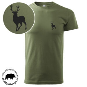 T-shirt myśliwski khaki byk