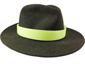 Żółta opaska na kapelusz myśliwski